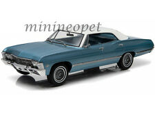 GREENLIGHT 19008 1967 67 CHEVROLET IMPALA 4 DOORS SPORT SEDAN 1/18 BLUE / WHITE
