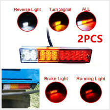 12V 20LED Truck Trailer Tail Light Turn Signal Reverse Brake Rear Lamp Indicator