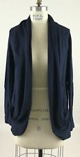 Lilly Pulitzer Leslie Cardigan Open Front Navy Blue Sz S