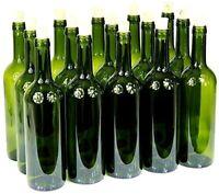 24 x GLASS Wine bottle Bordeaux 0.75L with cork -75cl welded 24 bottles Homebrew