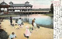 On the Sand Beach, Kingston Point, New York, Early Postcard, Used in 1906