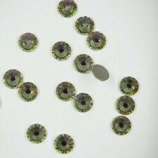 2058 Ss30 Lum 10 Strass Swarovski fond plat 6 4mm Crystal Luminous Green F