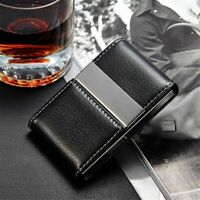 Leather Credit Card Holder Wallet Card Purse Double Open Business Card Holder