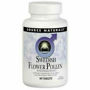 Source Naturals Swedish Flower Pollen, 90 Tablets Supports Prostate Function.