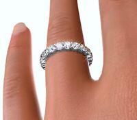 18kt Genuine Diamonds 3.42ct Round cut Diamond Eternity ring Size 7