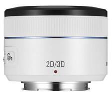 Samsung NX 45mm f/1.8 2D/3D Camera Lens (White) Brand New Oem Retail Package