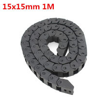 catena passa cavi 15x15mm L1000mm Plastic Cable Drag Chain Wire Carrier for CNC