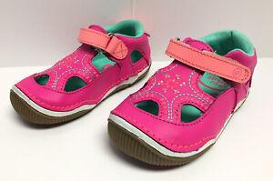 Stride Rite SRT Callie Pink Closed Toe Sandal Toddler Girl Sz 6 W