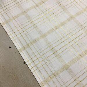 Christmas Tablecloth, White & Gold 150cm x 230cm, Wedding Tablecloth, Australian