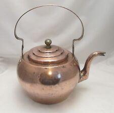 Un énorme 19th siècle Cuivre Bouilloire-Lovely Round Tea Pot-Kitchenalia