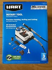 NEW Hart Rotary Tool 20v System - 33 Accessories & Storage Case TOOL ONLY HPRL01