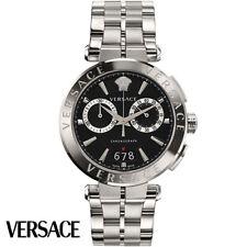Versace VEBR00818 Aion Chronograph schwarz Edelstahl Armband Uhr Herren NEU