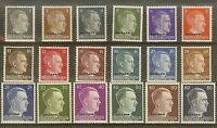 Stamp Germany Ostland Mi 1-18 Set 1941 WWII Adolf Head Estonia USSR Latvia MH