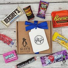 American USA Sweet Candy Hamper Gift Box Birthday Present Reeses Hershey Nerds..