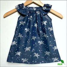 Unicorn Girl Cotton Party Dresses for Girls
