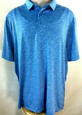 Champion mens golf shirt polo size XL blue polyester short sleeve