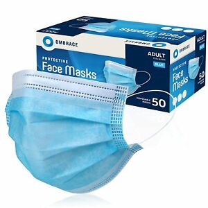 20/50/100 Pcs Disposable Face Mask Protective Non Medical 3-Ply Nose Mouth Cover