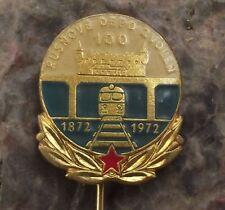 1972 Czech Rail System CSD Rusnove Train Depot Centenary Slovakia Pin Badge