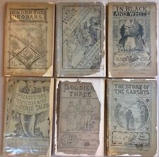 Rudyard Kipling Lot of Six Indian Railway Library FIRST EDITIONS 1883-1890 RARE!