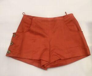 Women's Louis Vuitton Skirt Skort Lv Logo Buttons Red Blue Stripe Sz 38