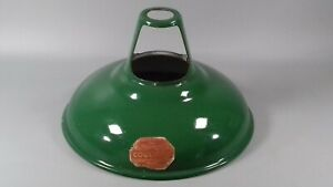 VINTAGE STANDARD COOLICON UTILITY GREEN ENAMEL LAMP SHADE INDUSTRIAL