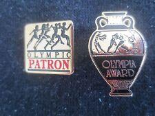 PATRON PIN - 1984 Los Angeles Summer Olympics  + Olympia Award Pin