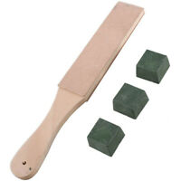 Leather Stropping Kit Tools Leather Strop Board 3 Packs Leather Sharpening  X5K8