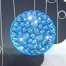 Bling Authentic Aqua PopSocket w/ Aqua Swarovski Crystals PopSockets iPhone 8 X