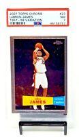 2007 Topps Chrome 1957-58 Variation Lakers LEBRON JAMES Card PSA 7 NEAR MINT