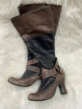 Vintage Leather Victorian Steampumk Style Boots Size 5