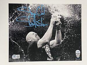 STONE COLD STEVE AUSTIN signed Auto 8x10 25th Anniversary LE photo Beckett BAS