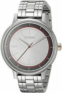 New Nixon A099SW2445 Kensington Phasma Silver Stainless Steel Ladies Watch NIB