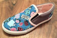 """Clarks Girl """"BRILL IDOL"""" multicolour canvas shoes size 13.5F. New."""