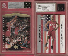 Michael Jordan JERSEY 96-97 CARD 10 & LEBRON JAMES WORN OLYMPIC JRSY & ROOKIE 10