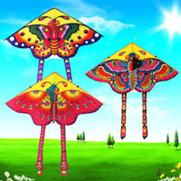 1Set 90*50cm butterfly printed long tail kite outdoor kite toy with handle.linYF