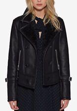 Calvin Klein Moto Faux Leather Jacket Motorcycle Black S