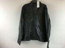 Men's Fadcloset Wilson Leather Jacket Size-3XL Color-Black