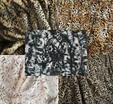 Luxury Animal Print Faux Fur Fabric Leopard Lynx Cat Panther Ocelot