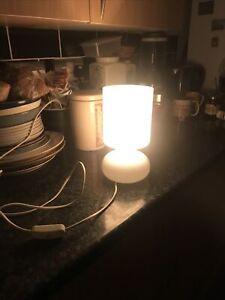 Vintage retro  white glass Ikea Lykta lamp with UK plug/working order.