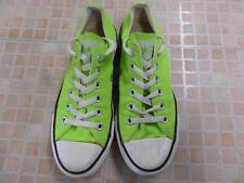 Converse All Star Ox Style Trainers EU 37.5 UK 5 Neon Green Grade B AB766