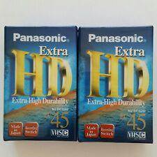 NEW 2-Pack PANASONIC NV-EC45HF HD Extra VHSC Video Recording Tape 45 Min BNIP