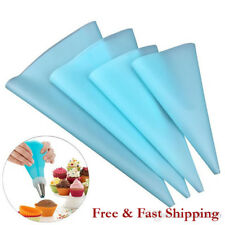 Set of 4 Silicon Piping Bags Blue