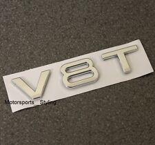 V8T Chrome badge emblème autocollant autocollant logo Audi V8 Aile Côté Fender Arrière Coffre *