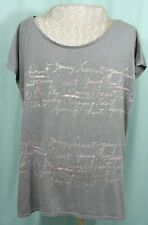 American Eagle Large Short Sleeved Top T Shirt Woman's Gray Graphic