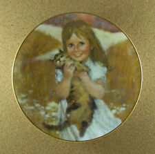 My Kitty Plate Precious Moments Collection Thornton Utz 1980 Cat #6 Sixth Issue