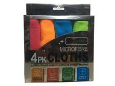 4Pk Microfibra Casa Lavaggio Auto Panni da spolvero Lucidante