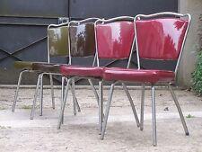 Suite de 4 chaises de cuisine années 50 en vinyle.......LIBERTY