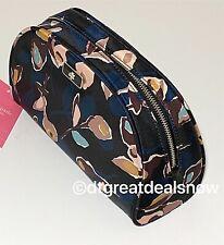 NEW Kate Spade Medium Dome Cosmetic Makeup Bag Dawn Paper Rose Nylon
