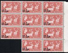 1977 South Georgia Sg 53 ½d brown-red decimal Overprint Unmounted Mint margin Bk