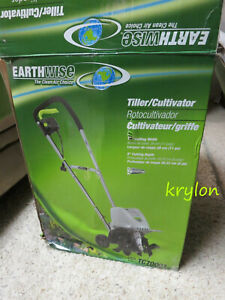 """Earthwise 11"""" 8.5 Amp Electric Tiller Cultivator Retail Box UPGRADED TC70001"""